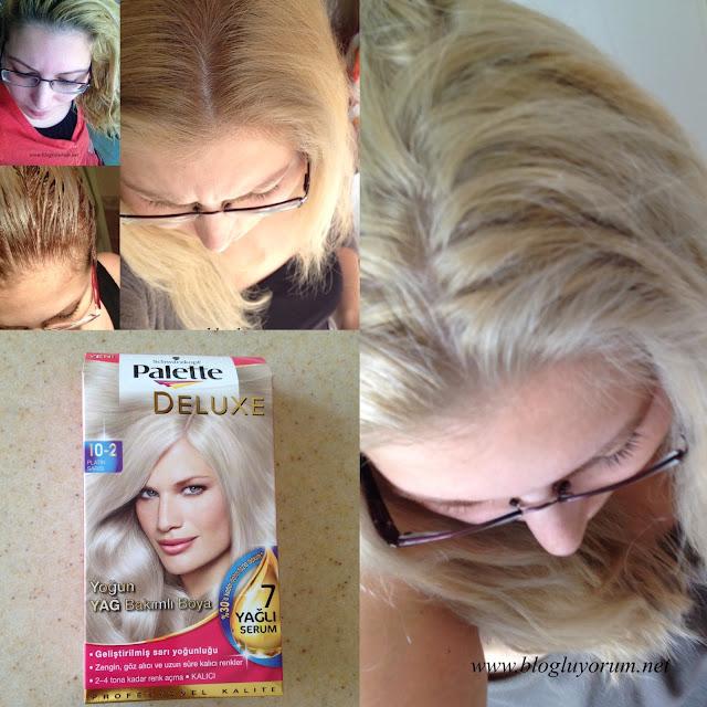 Palette Deluxe 10-2 Platin Sarı Saçı Açarak ve Açmadan Boyama