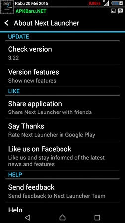 next launcher 3d shell v3.22 apk