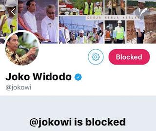 Pertama di Dunia, Akun Presiden Jokowi Diblokir Rakyatnya Sendiri Jadi Trending Twitter