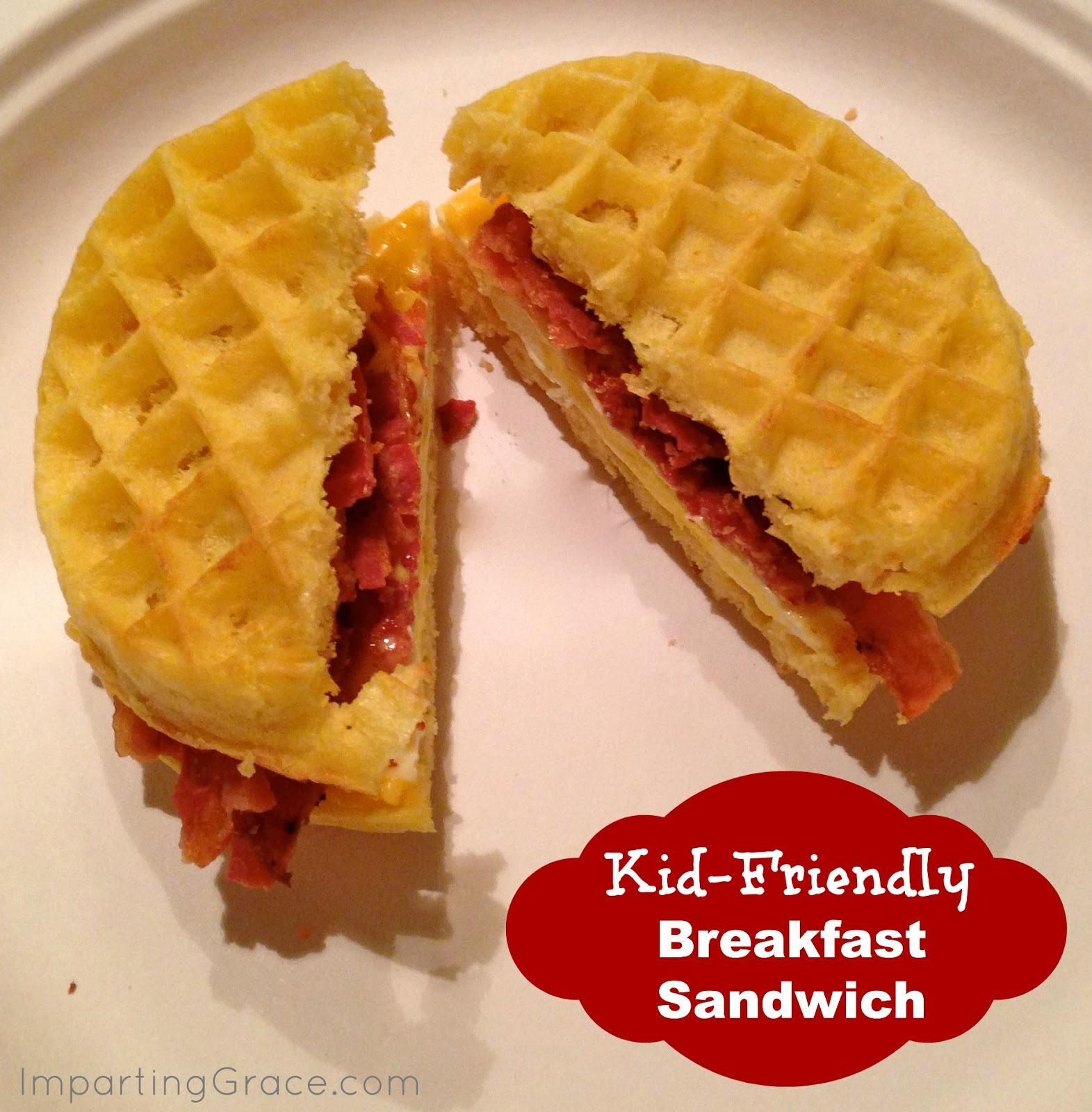 Kid Friendly Backyard Landscaping: Imparting Grace: Kid-friendly Breakfast Sandwich: The