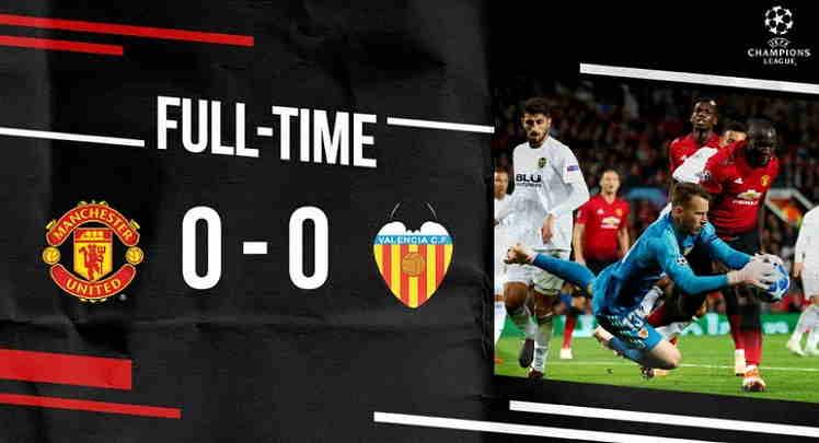 Hasil Manchester United vs Valencia Skor Akhir 0-0