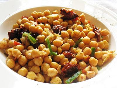 ginger chickpea Indian salad