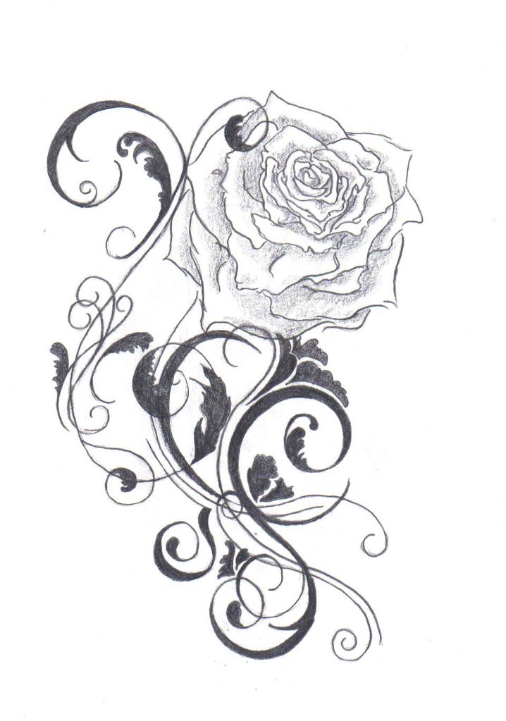 black rose tattoo design ideas photos images cute (41)