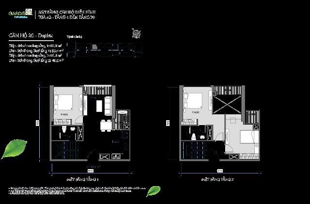 20 Duplex  từ tầng 4 đến tầng 39 The Arcadia Vinhomes Gardenia