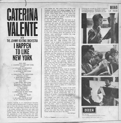 Caterina Valente I Happen To Like New York