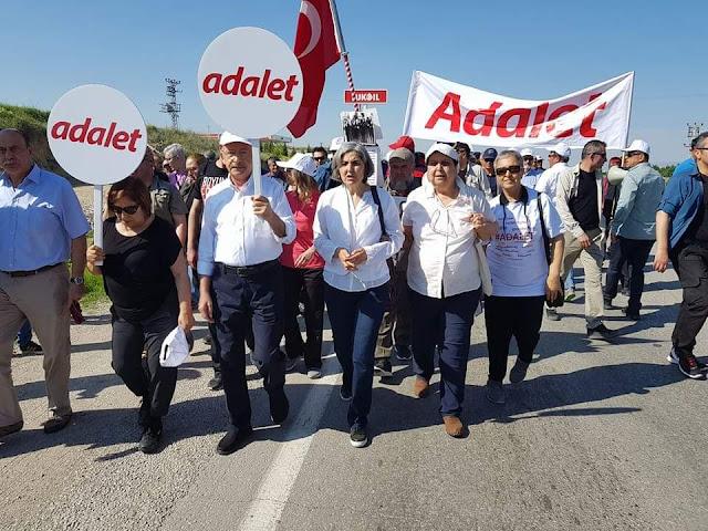 Kemal Kılıçdaroğlu AdaletPankartı ile İstanbul'a Yürüyüşü
