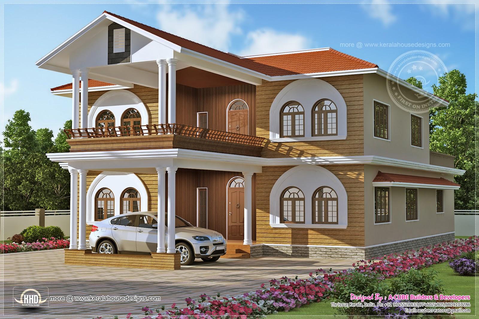 Luxury villa design in 3836 square feet kerala home for Luxury villa plan