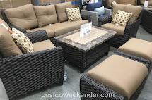 Agio International 6pc Deep Seating Set Costco Weekender