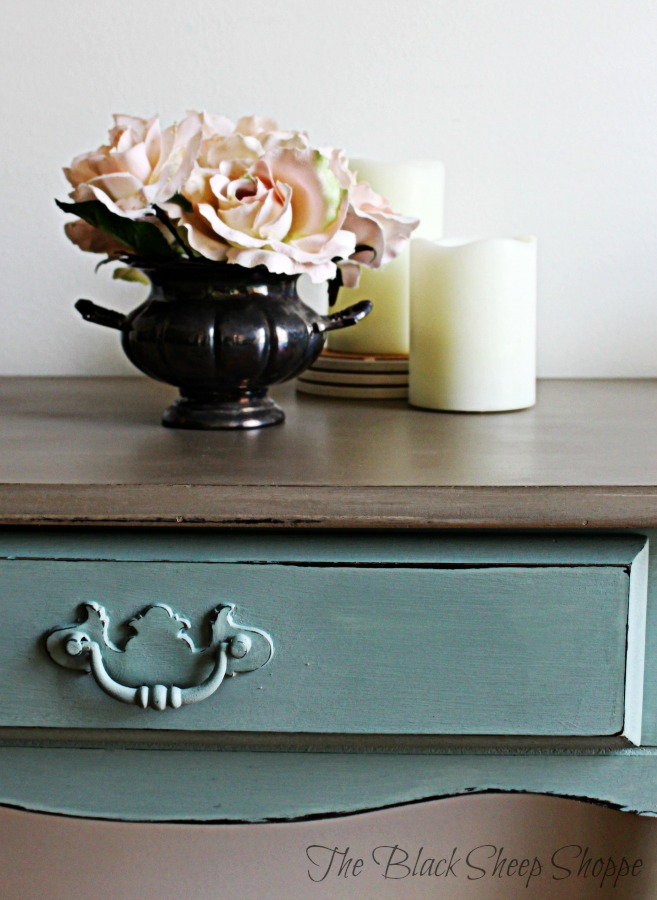 Use paint to transform cheap furniture for a classic look.