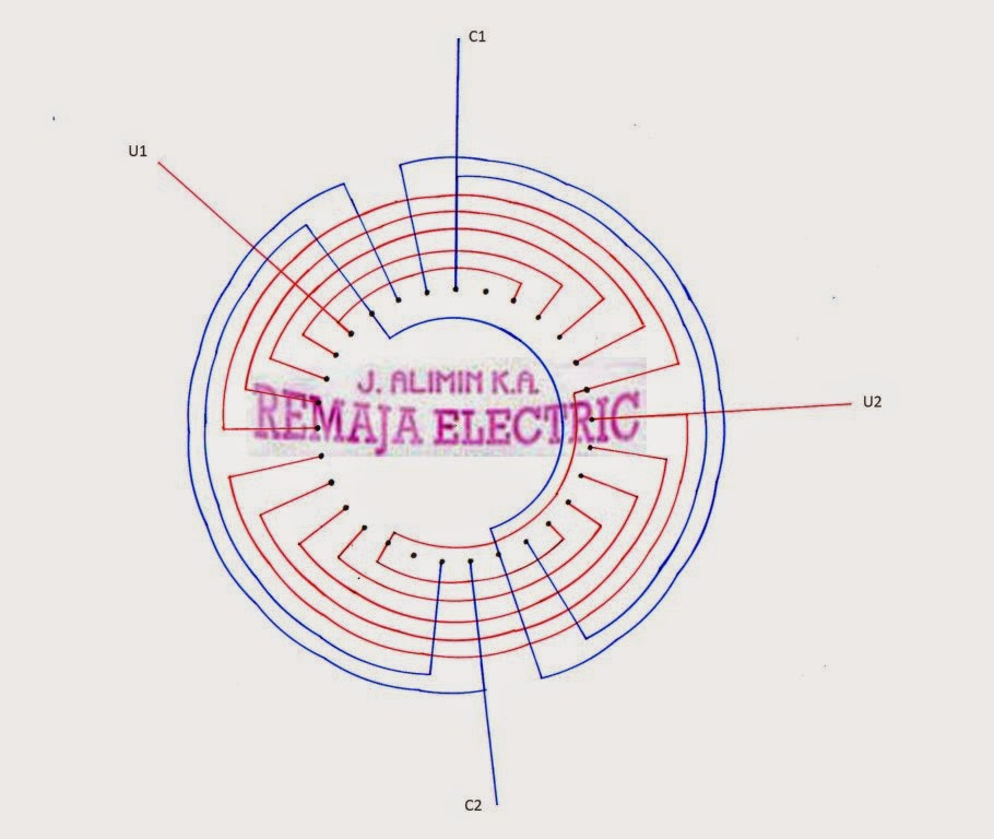 Three phase induction motor winding design for Linear induction motor winding