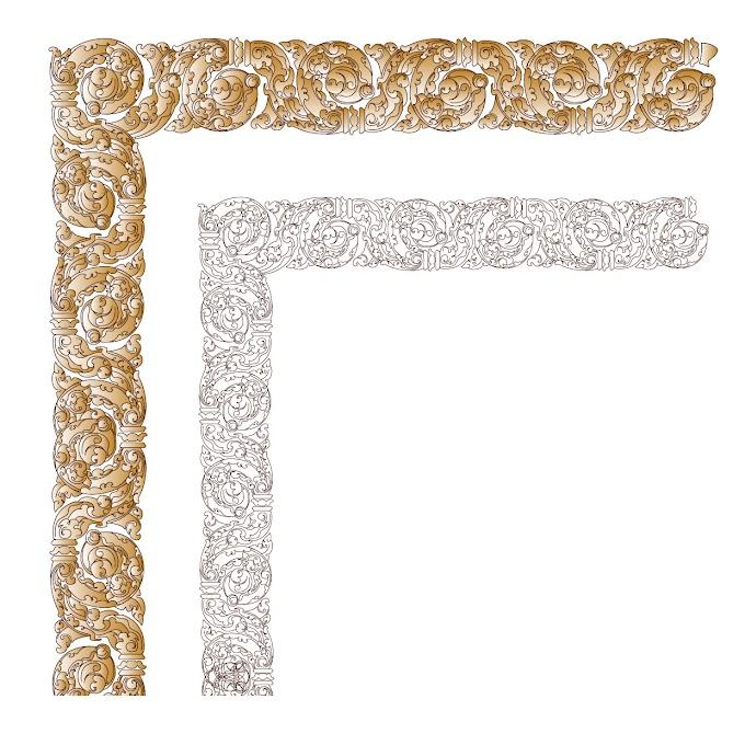 khmer Ornament frame free vector