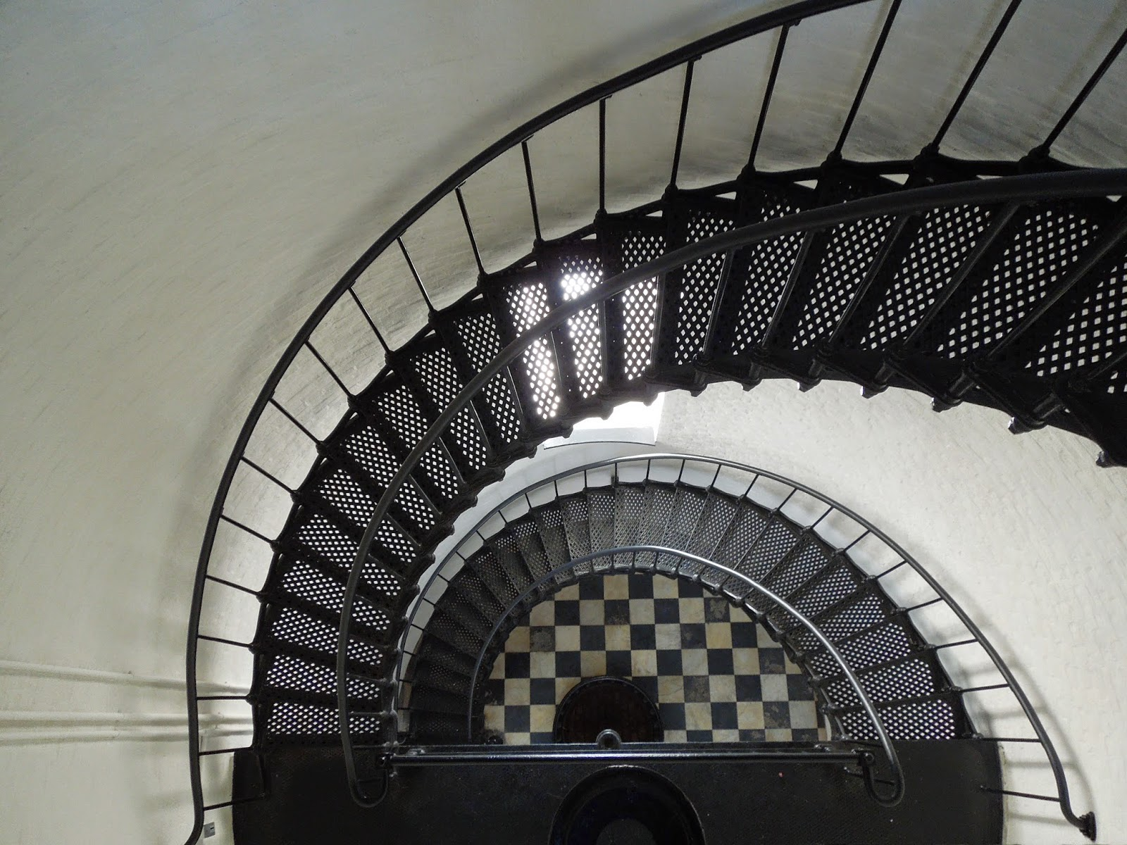 lighthouse stairs looking down