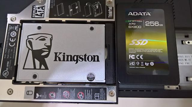 新舊SSD合照