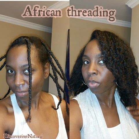 African Threading Natural Hair