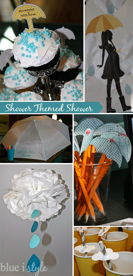 A bridal shower in a shower theme.