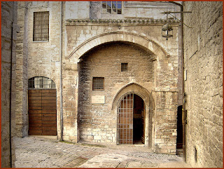 The house in Assisi where St Francis grew up