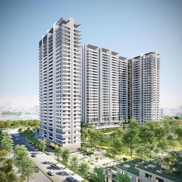Phối cảnh tổng thể dự án căn hộ Kingdom 101 Tô Hiến Thành, quận 10, TP.HCM.