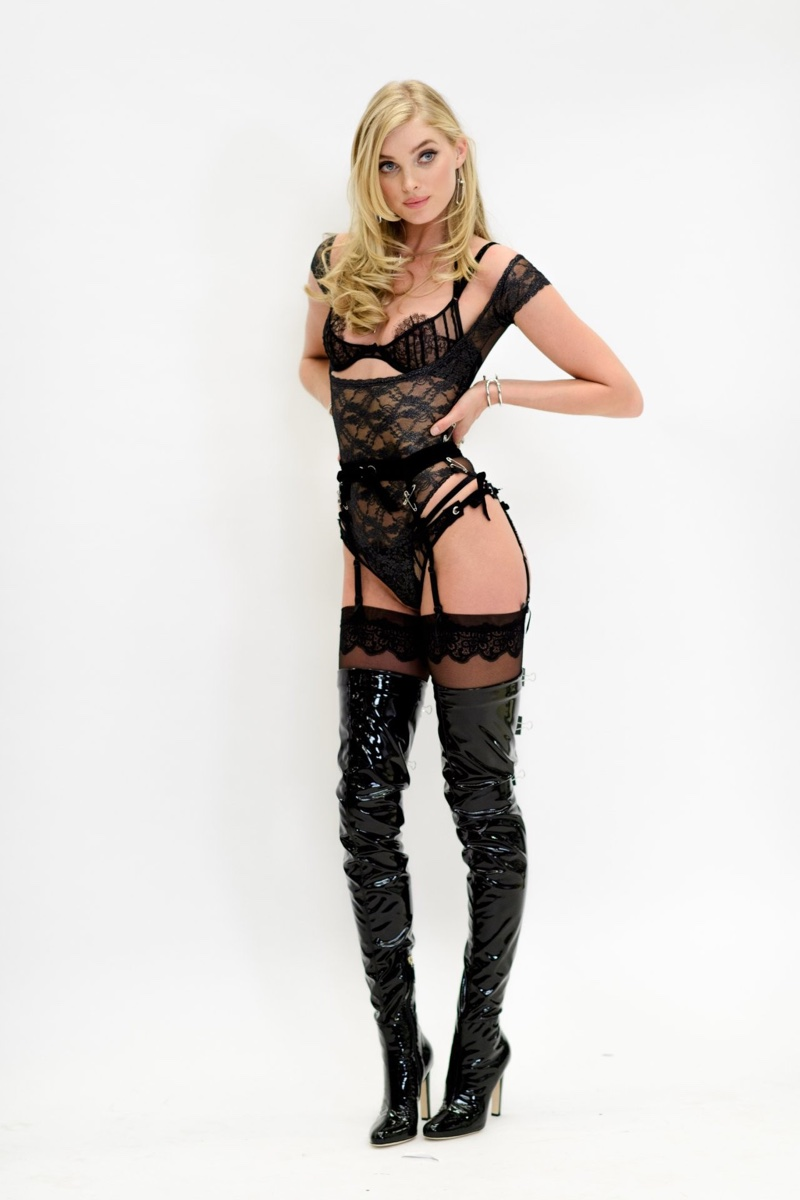 Elsa Hosk sizzles at the VS Fashion Show costume fittings