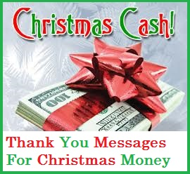 christmas thank you messages christmas money cash