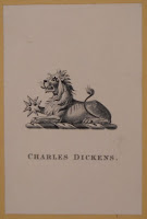 A Charles Dickens bookplate.