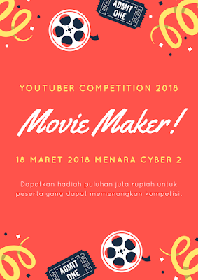Contoh Desain Flyer YouTuber Competition 2018