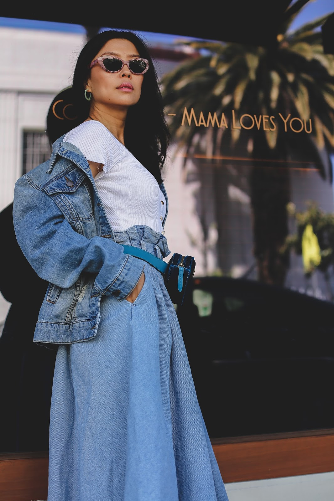 How to style a denim jacket chic fashion outfit