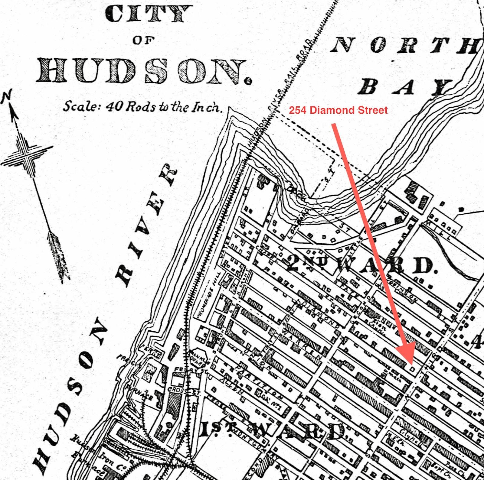 Hudson Ny Map >> Going The Extra Yad My Genealogy Journey To Hudson Ny Part 2