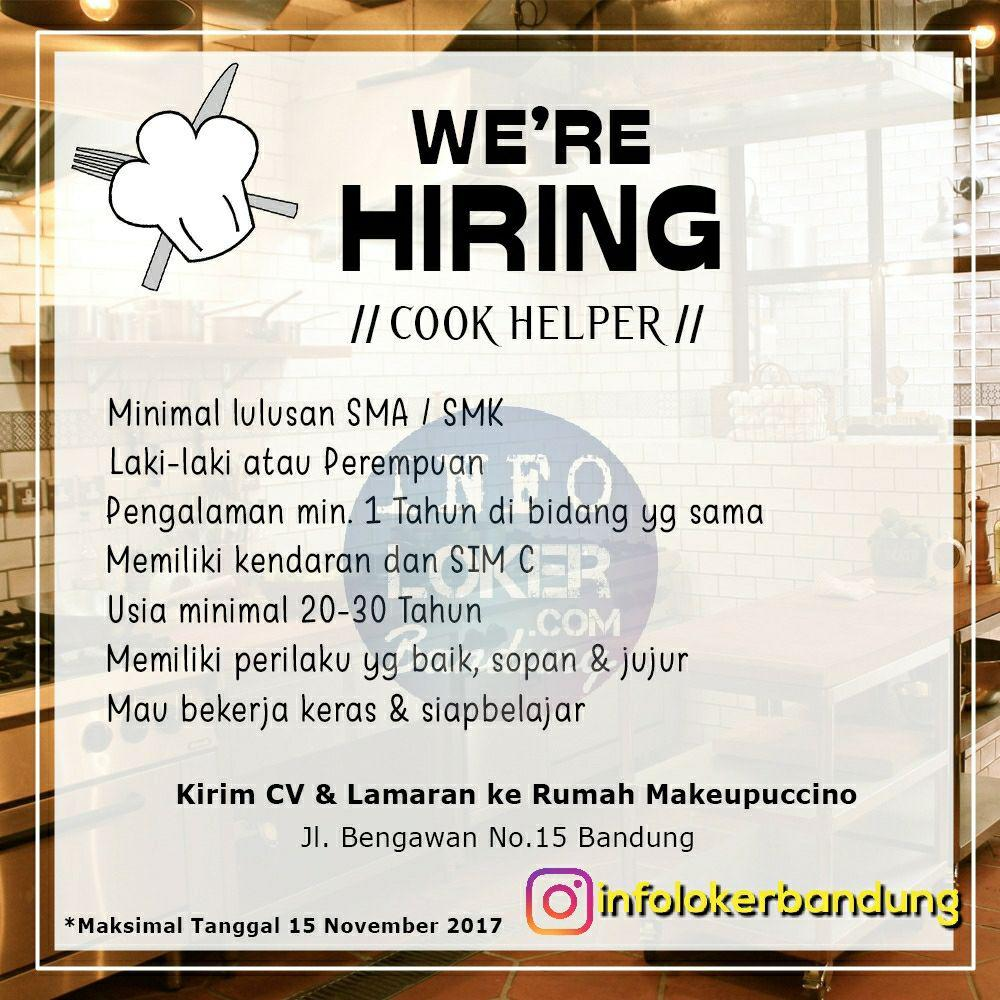 Lowongan kerja Rumah Makeupuccino Bandung November 2017
