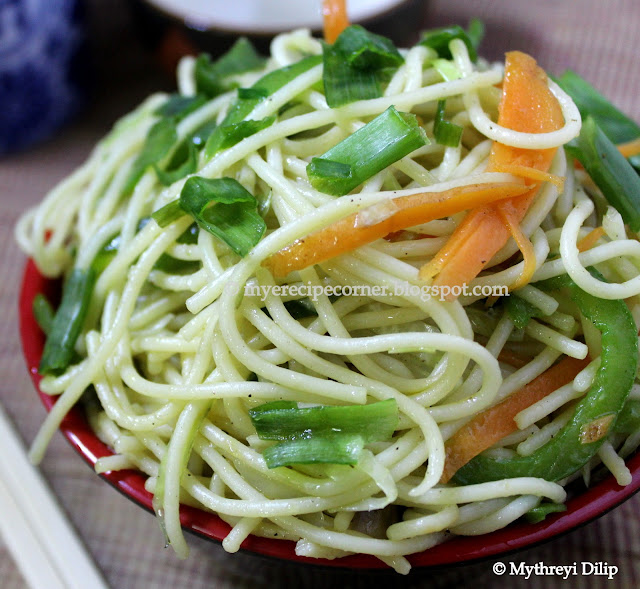 Mye's Kitchen: Chow Mein Vegetable Noodles Recipe