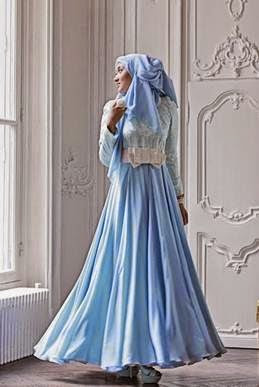 Model Gaun Muslim Pesta Modern Terbaru