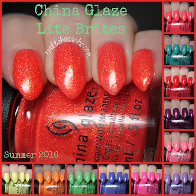 china glaze lite brites collection swatch