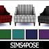 Download Sims 4 Pose: Hamptons Hideaway Armchair Plaid