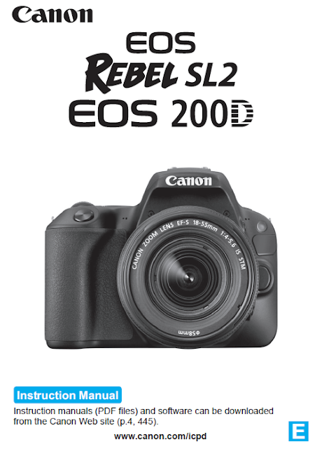Canon EOS 200D / Rebel SL2 PDF User Guide / Manual Downloads