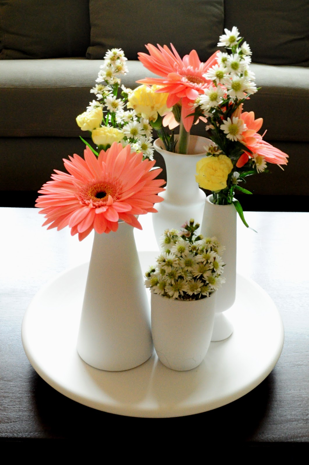 H Is For Handmade Multiple Vase Centerpiece Tutorial