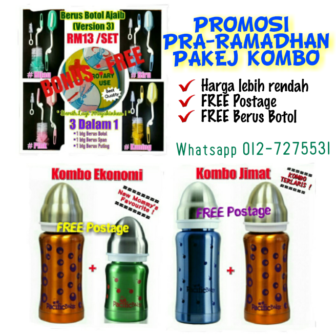 Promosi Pra-Ramadhan Botol Susu Besi