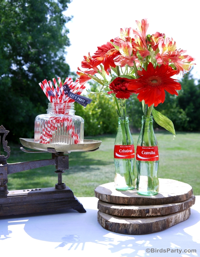BBQ Party Centerpiece #ShareaCokeContest