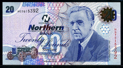 20 Pounds sterling Northern Bank note