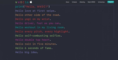 WWDC2016 propaganda page hint: Strengthening iOS10 fluency and stability
