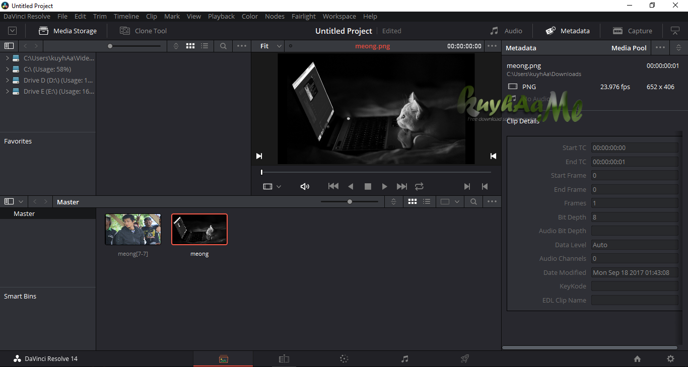 Davinci Resolve Studio kuyhaa