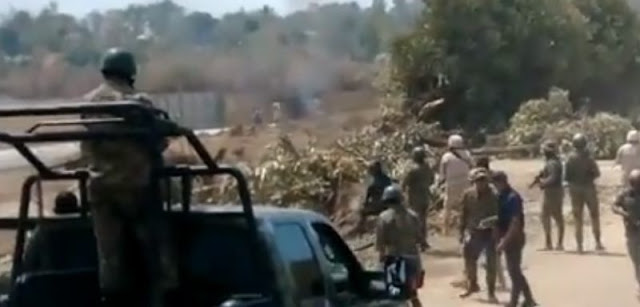 Autoridades militares dominicanas informaron que dos haitianos resultaron heridos ayer en un incidente ocurrido en la provincia Elías Piña (suroeste), en la frontera común, cuando encapuchados cruzaron desde Haití para obstaculizar la construcción de una verja que protegerá un edificio de aduanas.