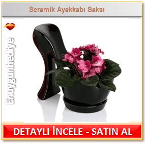 Seramik Ayakkabı Saksı