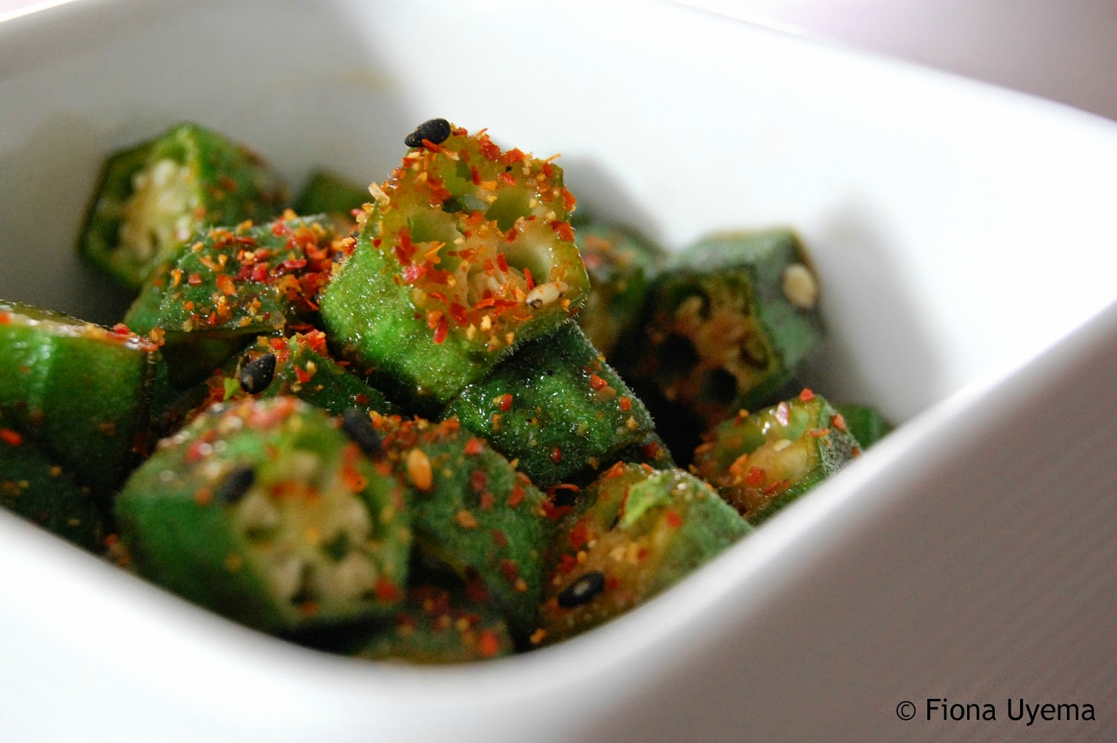 Fiona S Japanese Cooking Japanese Stir Fried Okra Vegetable Recipe