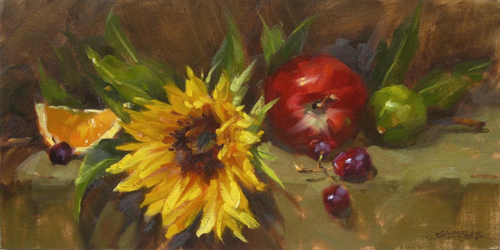 Karen Werner Fine Art: Still LIfe With Sunflower