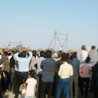 Public execution of a young man in Nasirabad, in Isfahan Province, central Iran. August 2017