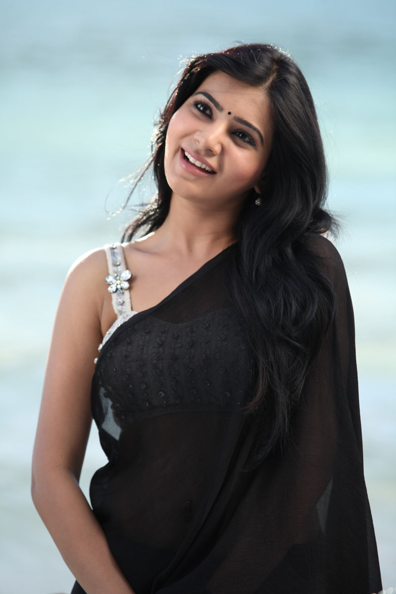 Samantha Ruth Prabhu hot pics, Samantha Ruth Prabhu in black saree