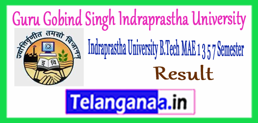 GGSIPU Gobind Singh Indraprastha University B.Tech 1st 3rd 5th 7th Semester Results 2017