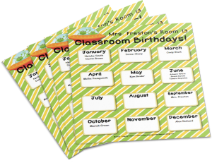 Want your own Customizable Birthdays Poster?