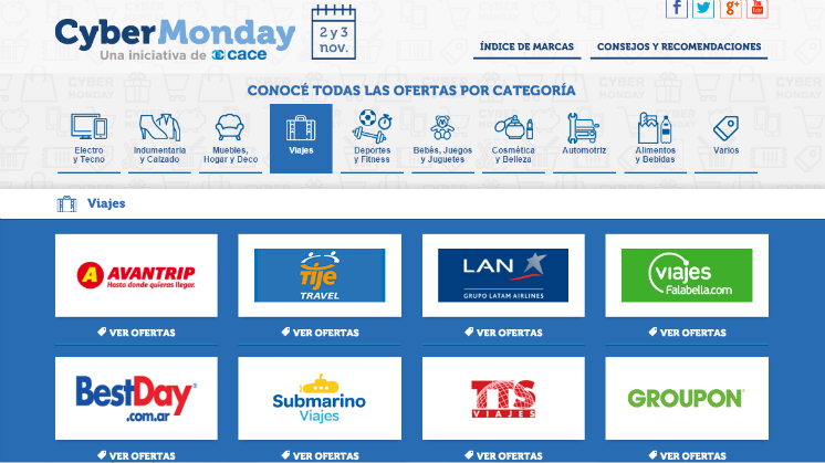 cyber monday argentina 2015 turismo