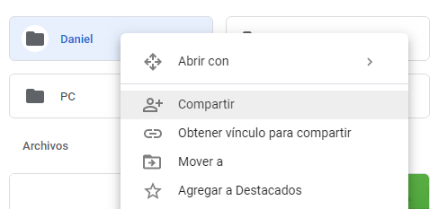 carpeta google drive compartir