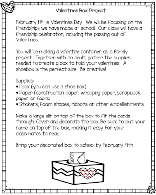 Classroom Valentine Container Project